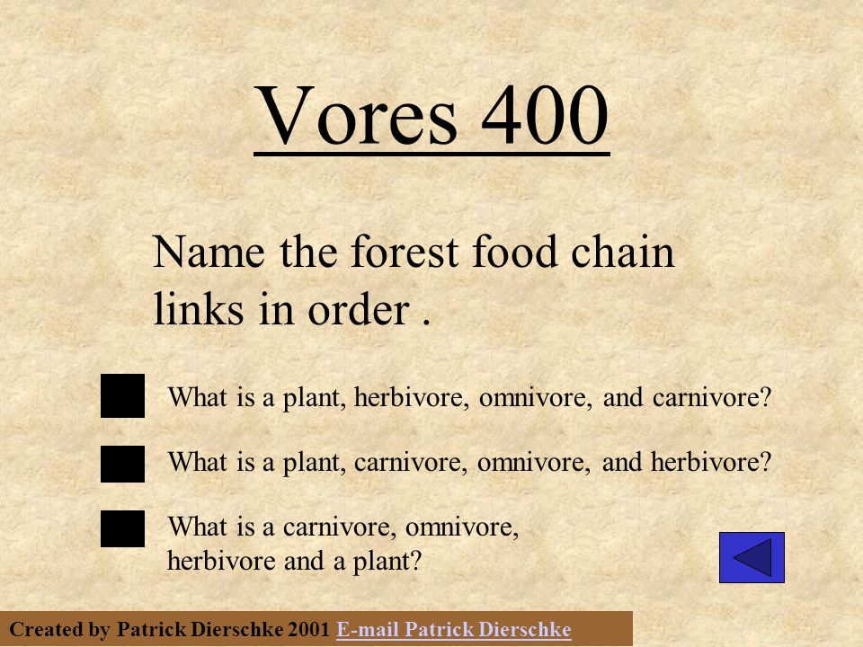 Created by Patrick Dierschke 2001 E-mail Patrick DierschkeE-mail Patrick Dierschke Vores 300 What is an herbivore.
