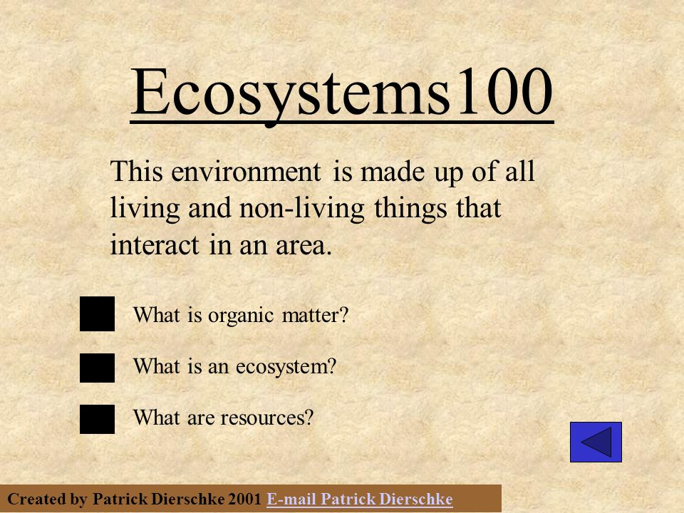 Created by Patrick Dierschke 2001 E-mail Patrick DierschkeE-mail Patrick Dierschke Vores 400 Name the forest food chain links in order.