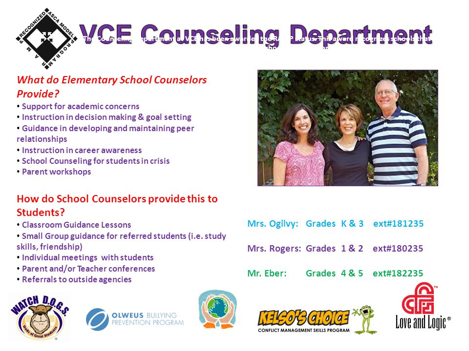 What do Elementary School Counselors Provide.