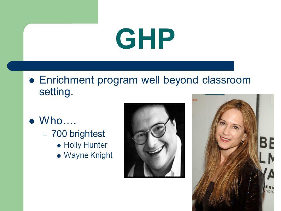 GHP Enrichment program well beyond classroom setting.