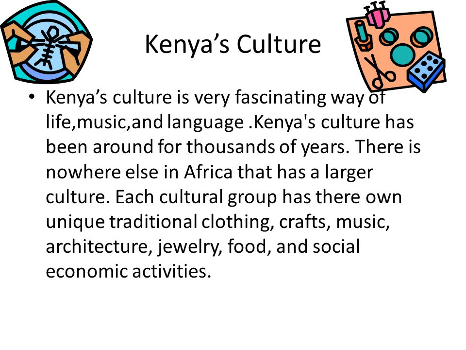 Music in Kenya Kenyas music is mainly based on drumming, humming, singing and dance. The National Museums of Kenya exhibits a wide variety of these mu