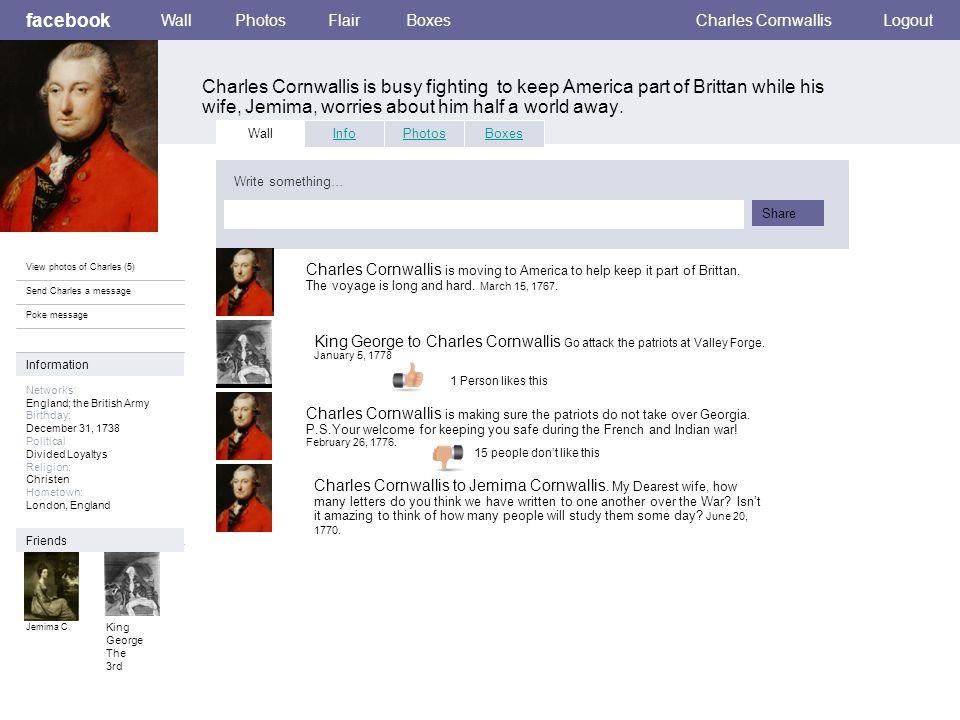 Personal Information facebook Charles Cornwallis is married to his divine wife, Jemima Cornwallis.