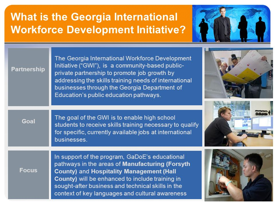 What is the Georgia International Workforce Development Initiative.