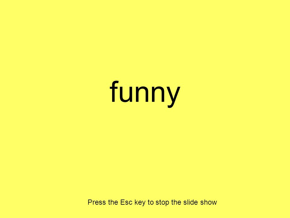 funny Press the Esc key to stop the slide show