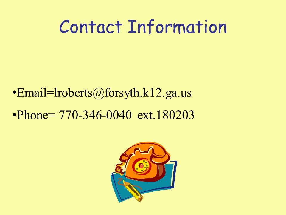 Contact Information Phone= ext