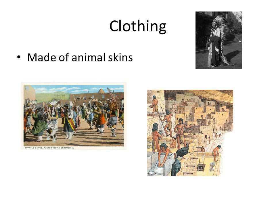Clothing Made of animal skins