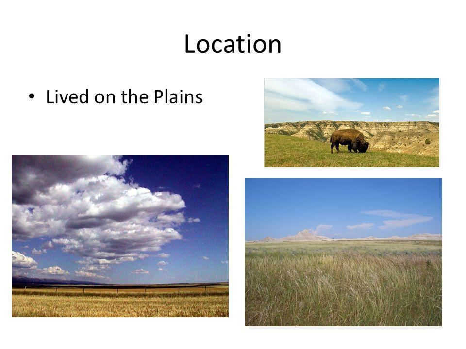 Location Lived on the Plains