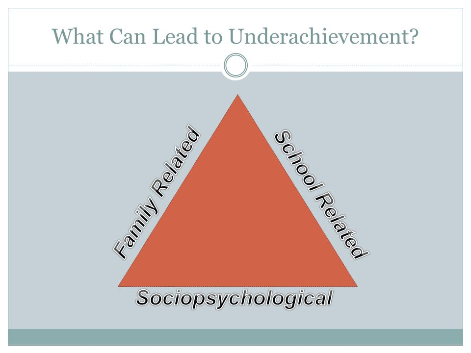 What Can Lead to Underachievement