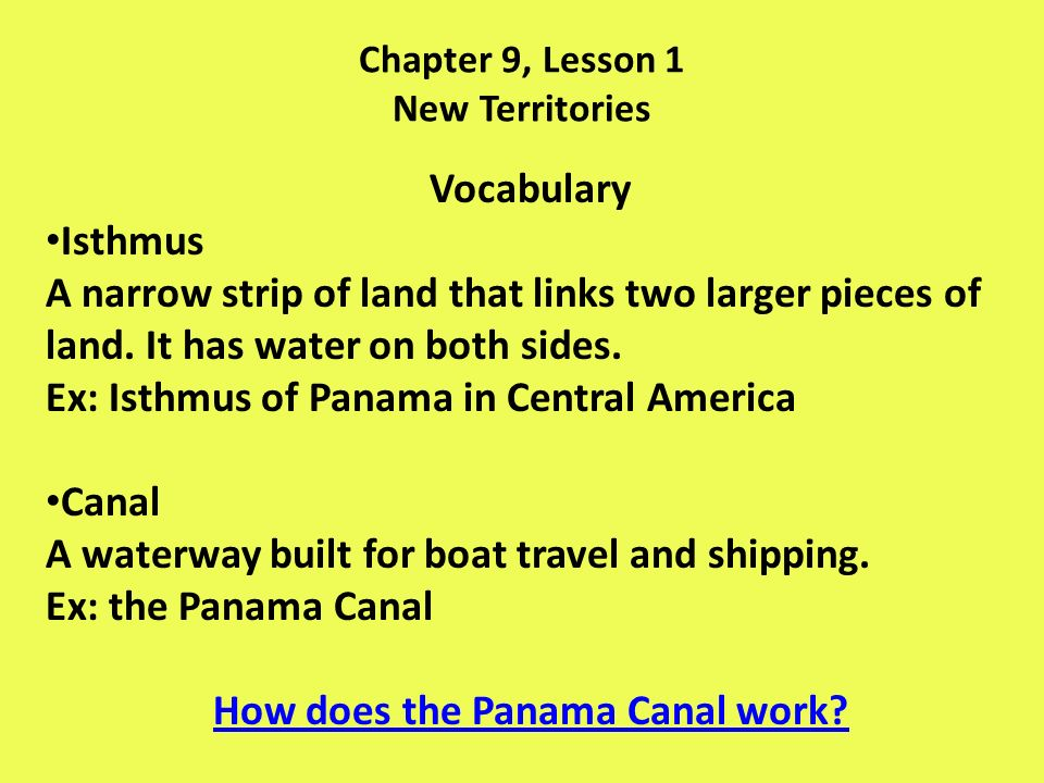 Chapter 9, Lesson 1 New Territories 1.How did Alaska become part of the United States.