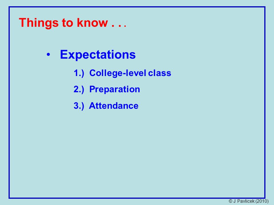 Things to know...
