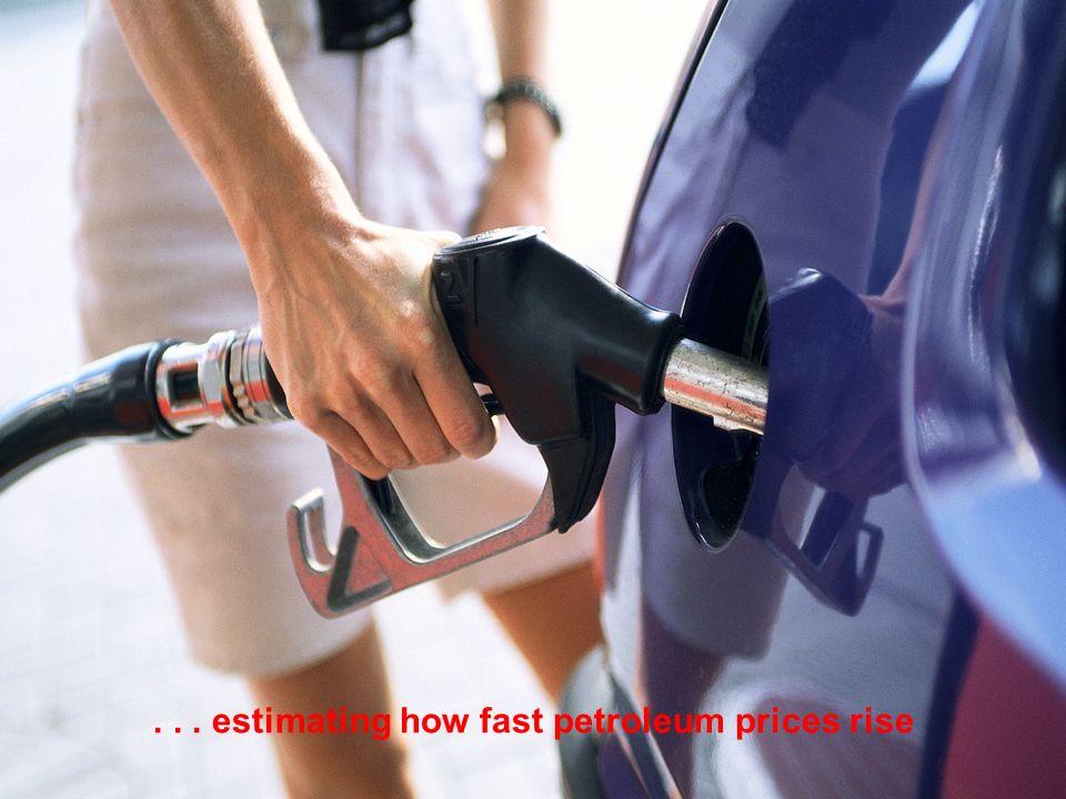 ... estimating how fast petroleum prices rise