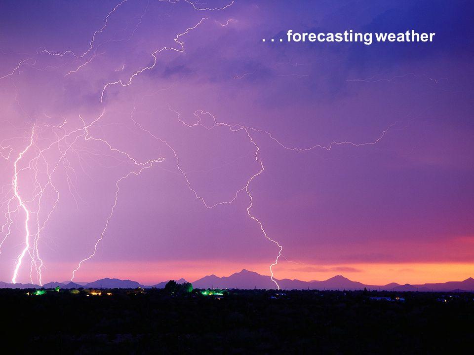 ... forecasting weather
