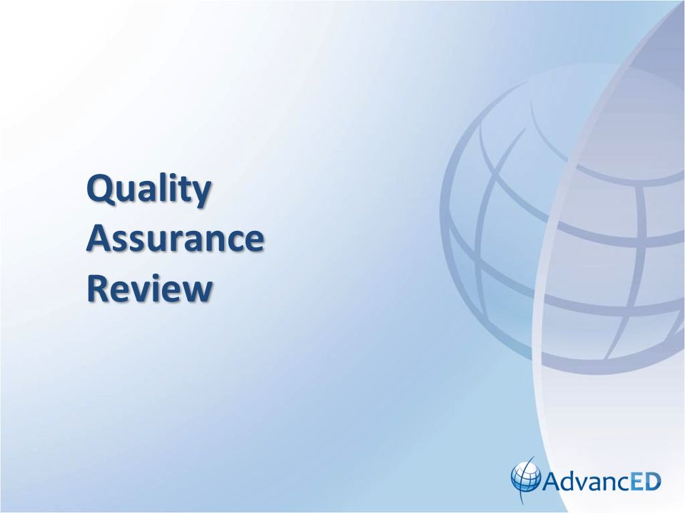 Quality Assurance Review