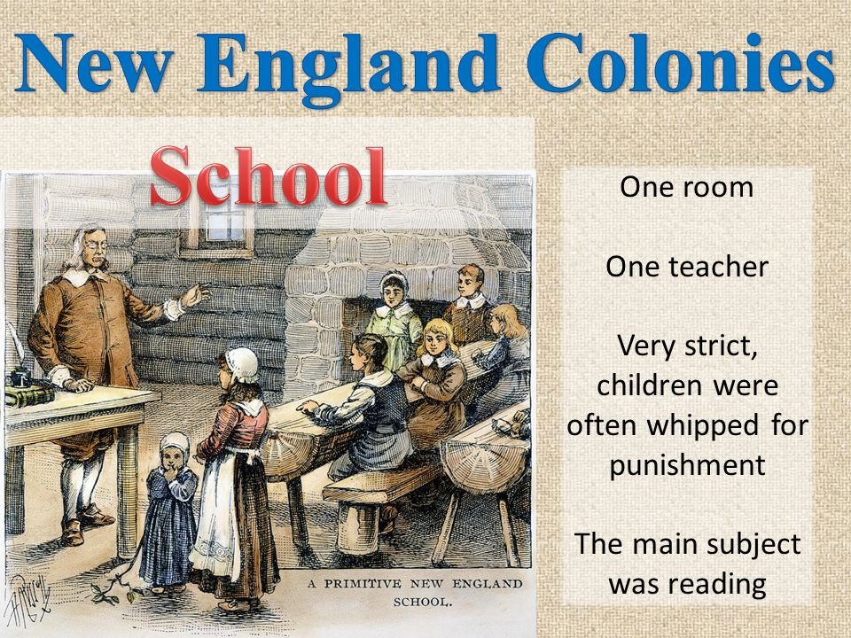 By 1750, busy cities cropped up around the New England colonies. Some colonists lived in small towns surrounded by farm land outside of the big cities