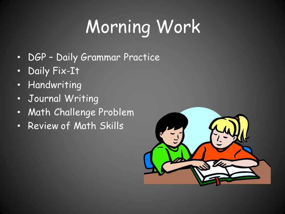 Morning Work DGP – Daily Grammar Practice Daily Fix-It Handwriting Journal Writing Math Challenge Problem Review of Math Skills