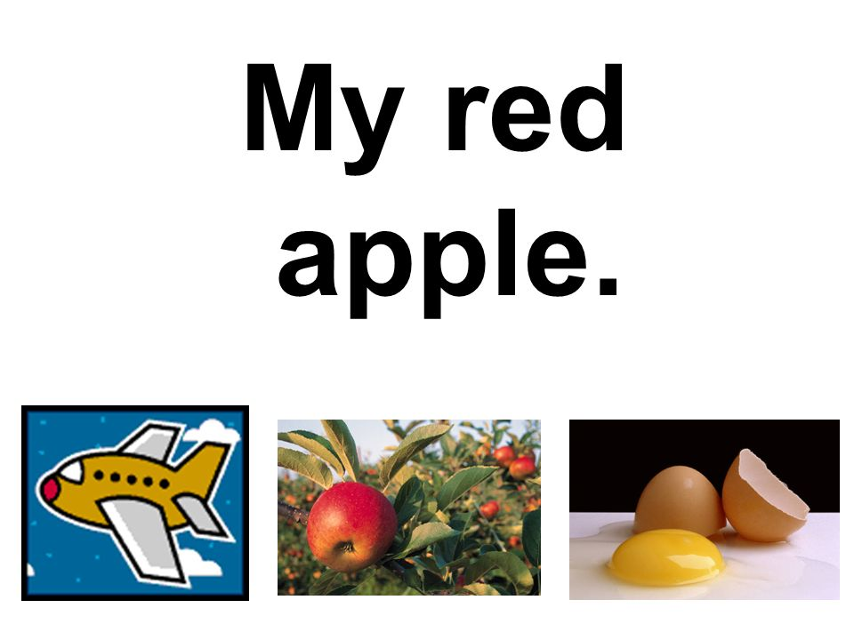 My red apple.