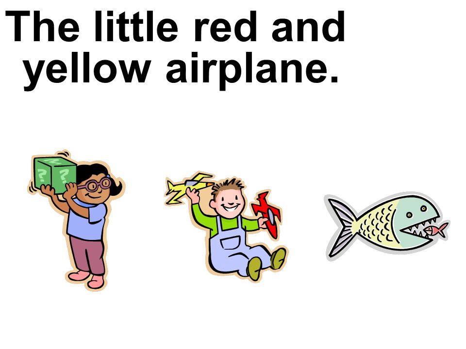 The little red and yellow airplane.