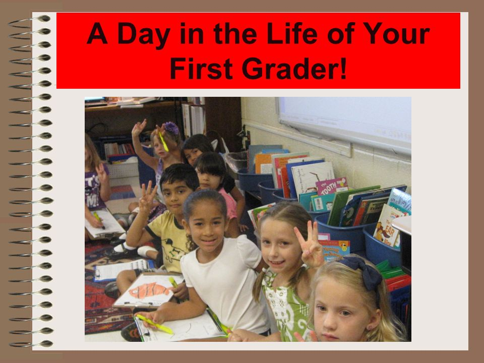 A Day in the Life of Your First Grader!