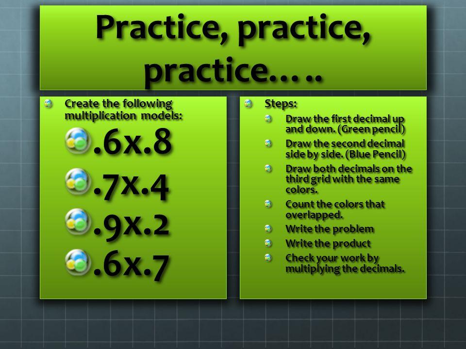 Practice, practice, practice…..