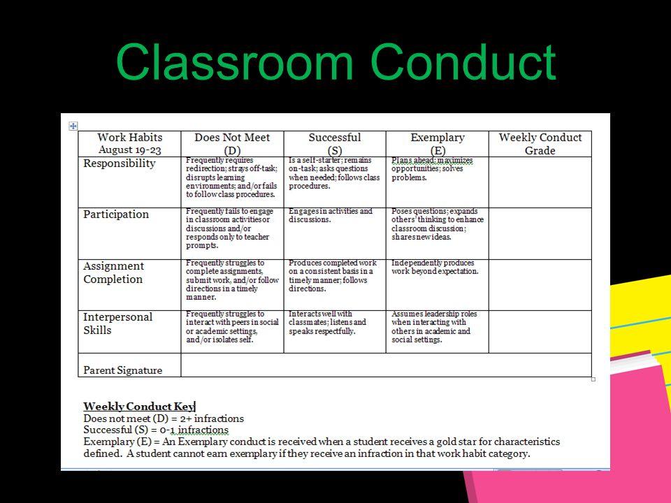 Classroom Conduct