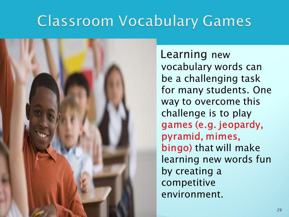 Learning new vocabulary words can be a challenging task for many students.