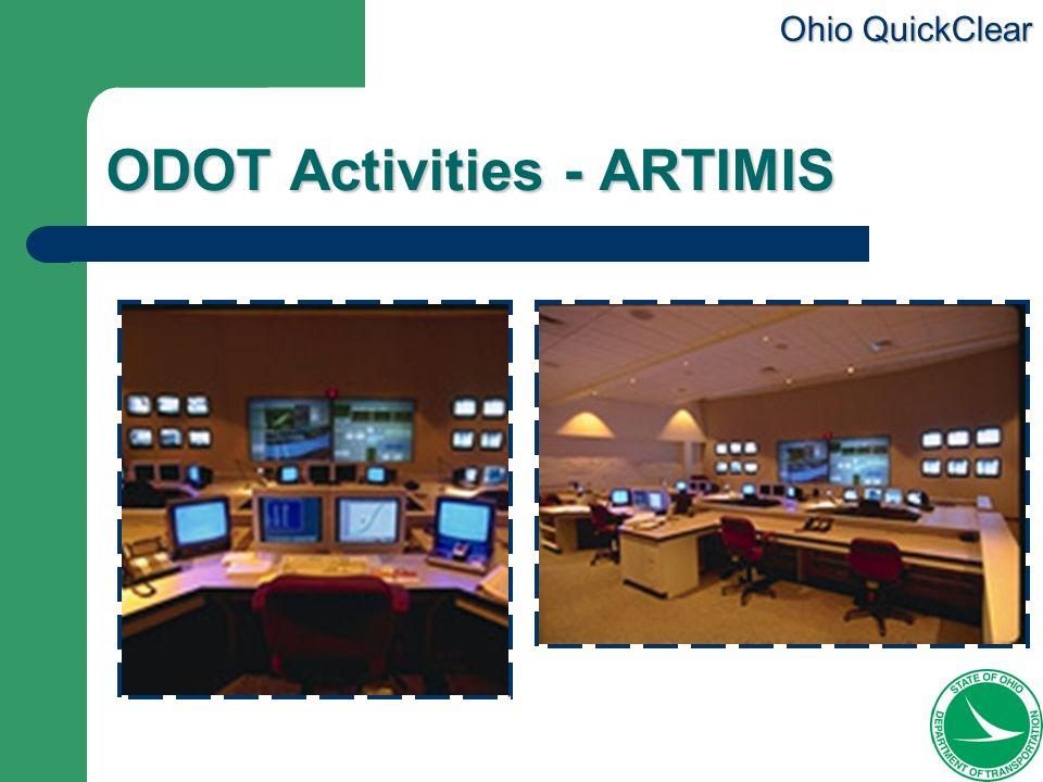 Ohio QuickClear ODOT Activities - ARTIMIS