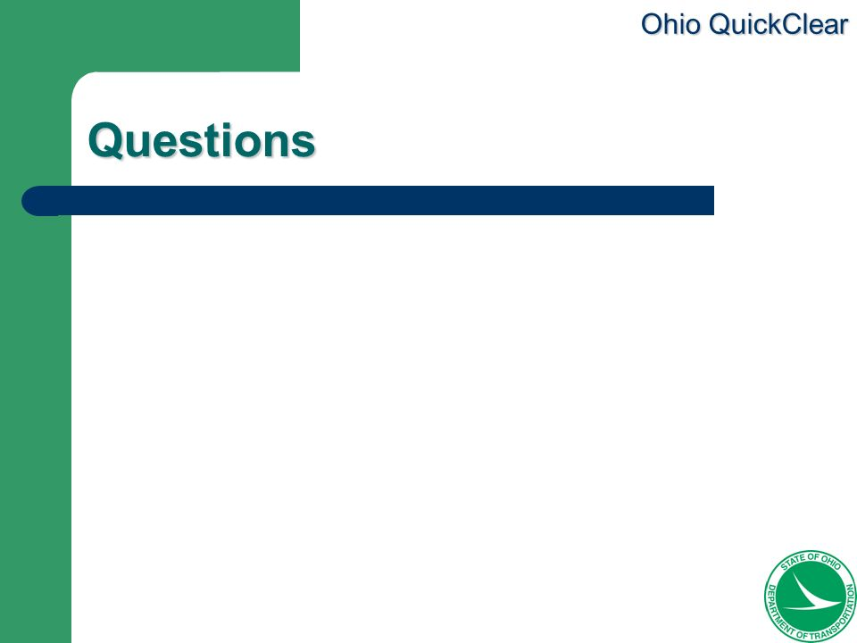 Ohio QuickClear Questions