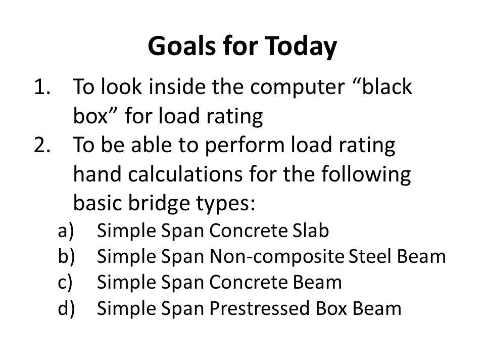 Load Rating Seminar15 Load Rating Methods Three Load Rating Methods 1.