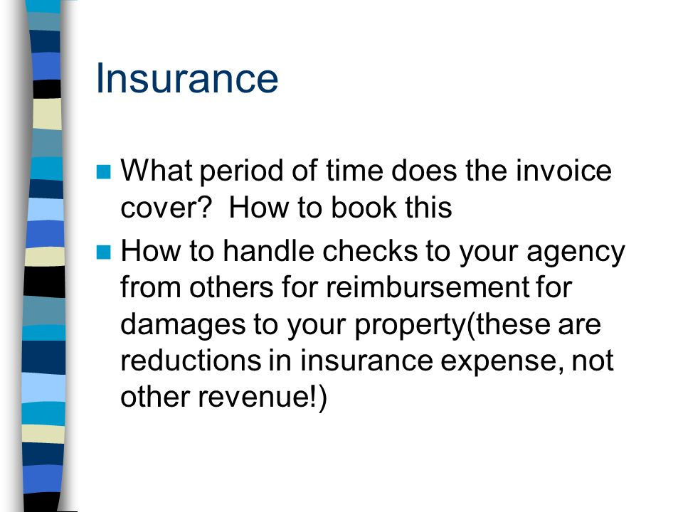 Insurance What period of time does the invoice cover.