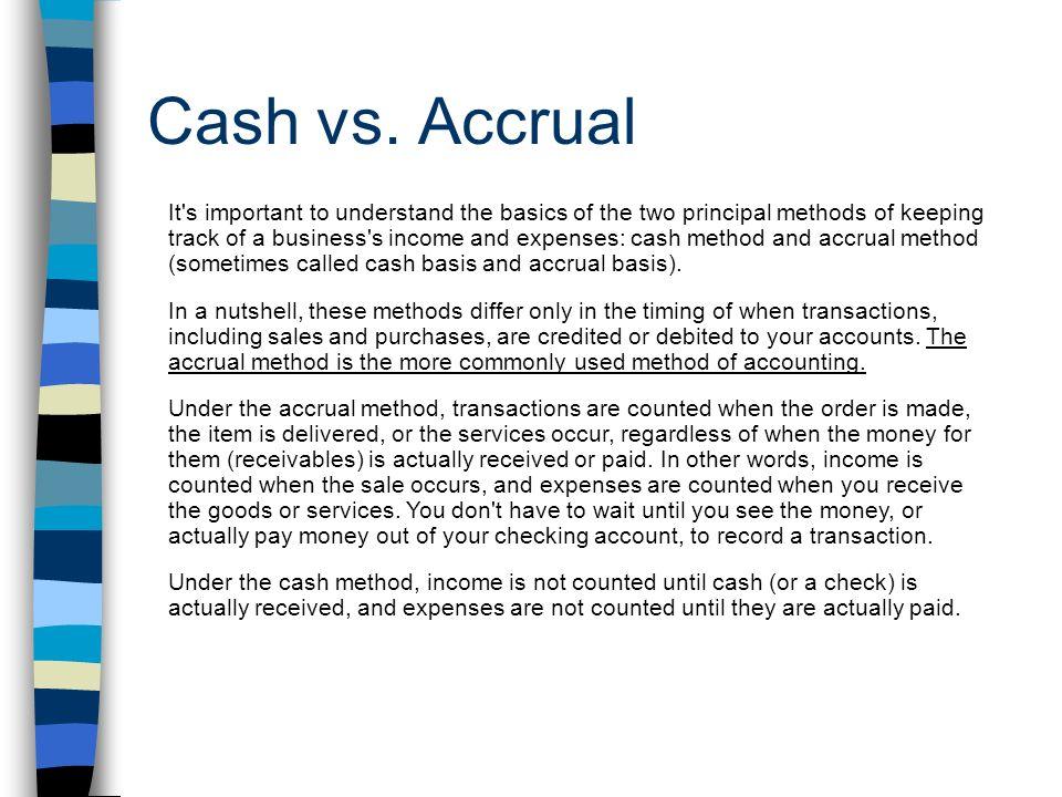 Cash vs.
