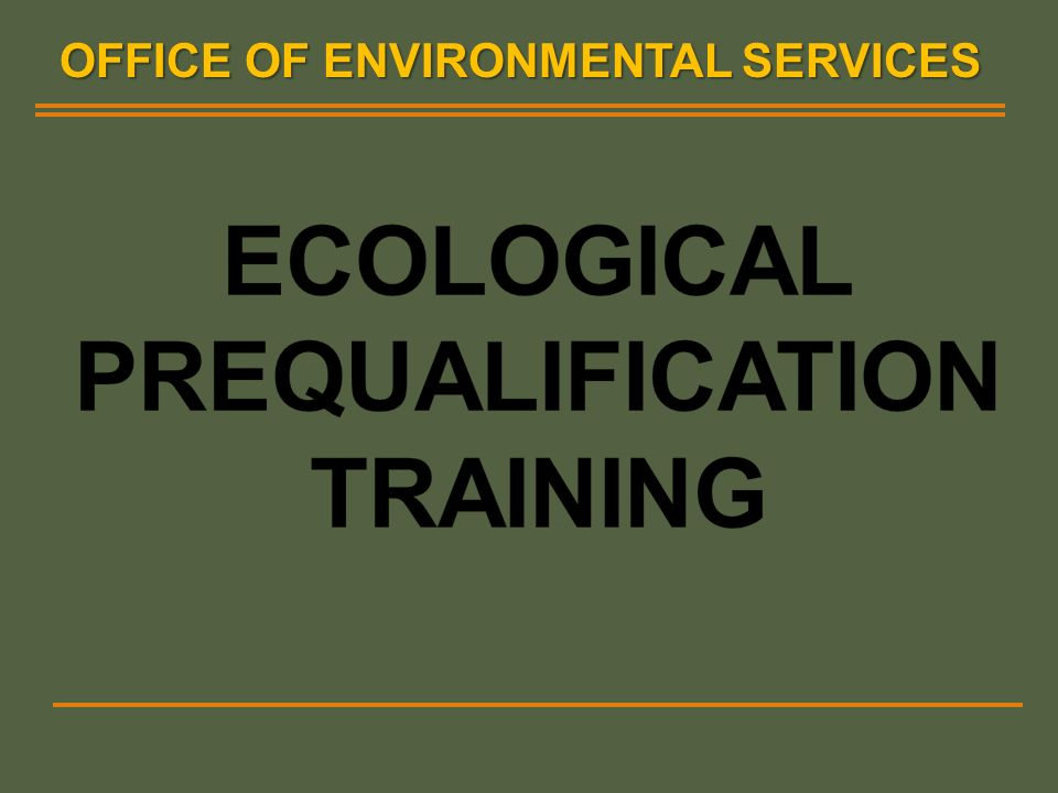OFFICE OF ENVIRONMENTAL SERVICES