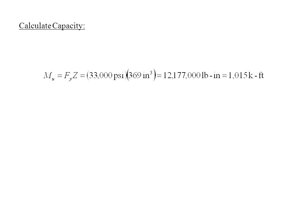 Calculate Capacity: