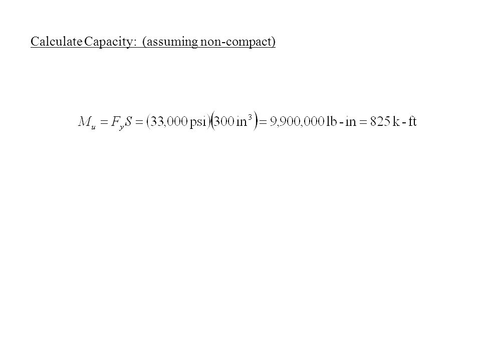 Calculate Capacity: (assuming non-compact)
