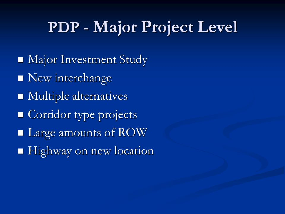 Minor PDP ~ Steps 8, 9 & 10 PDP Step Structural Involvement StagedReviewSubmission 8 Prepare final plan package Prepare LD-4 Estimating Form Final Tracings 9 Award contract As needed None 10 Construct Project As needed None