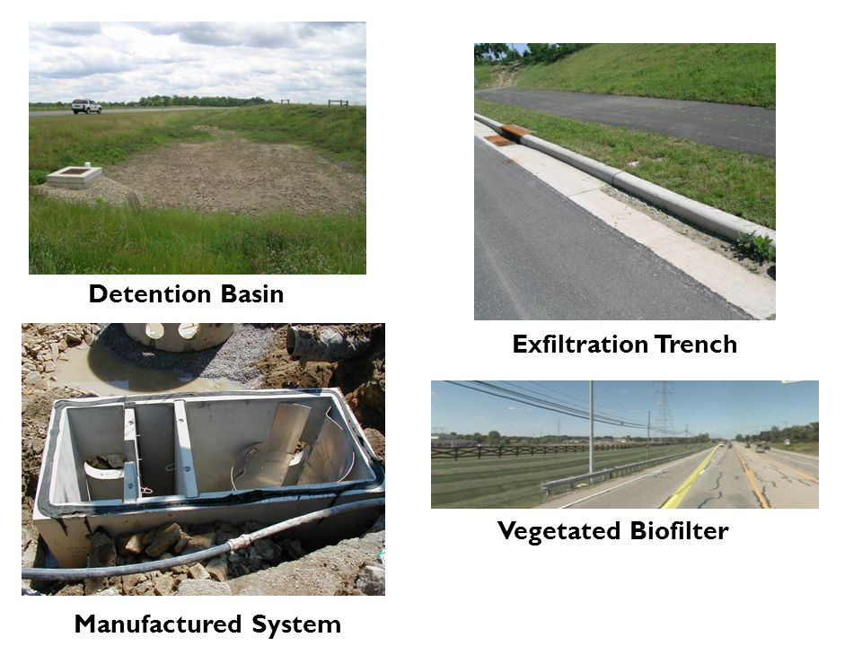 Manufactured System Vegetated Biofilter Exfiltration Trench Detention Basin