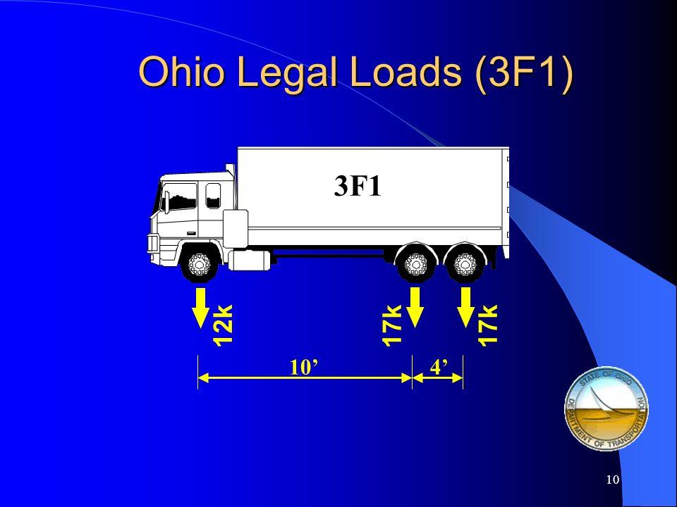 9 2F1 Ohio Legal Loads (2F1) 20k10k 10