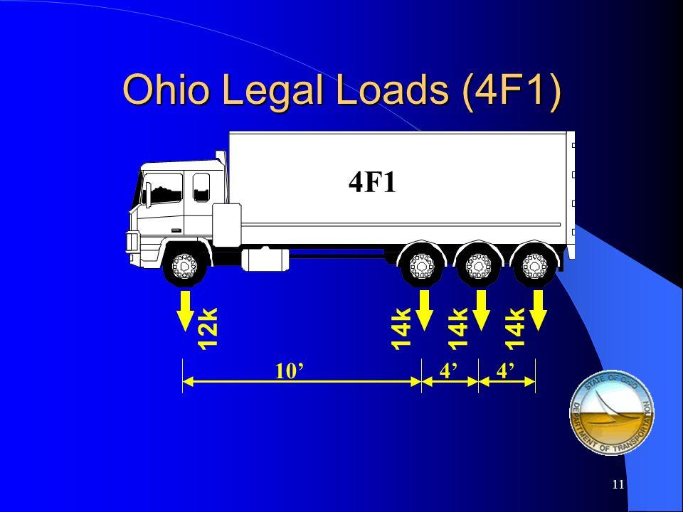 3F1 Ohio Legal Loads (3F1) 17k 12k 10 17k 4