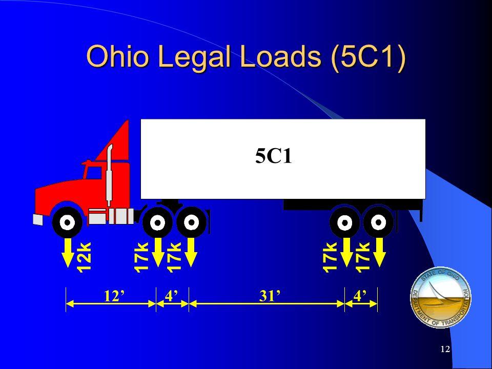 11 4F1 Ohio Legal Loads (4F1) 14k12k 10 14k 4 4