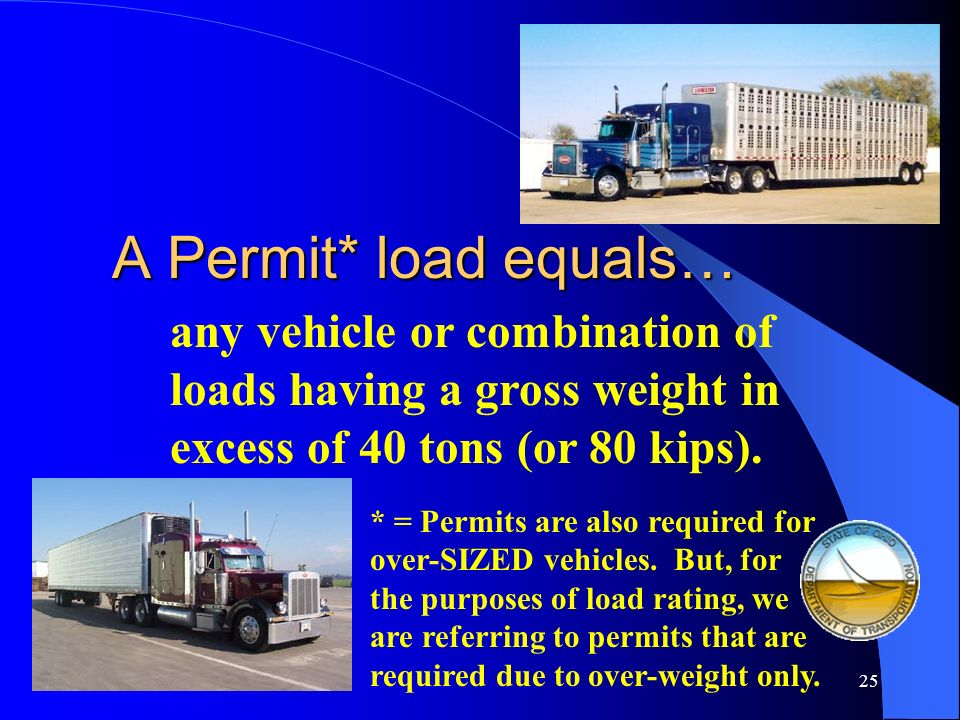 24 What is a Permit or Superload Vehicle?