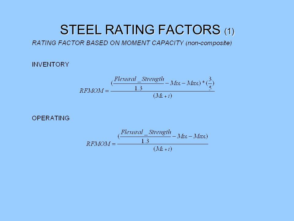 50 Appendix 1 – Rating Equations Reference: BARS Manual 1