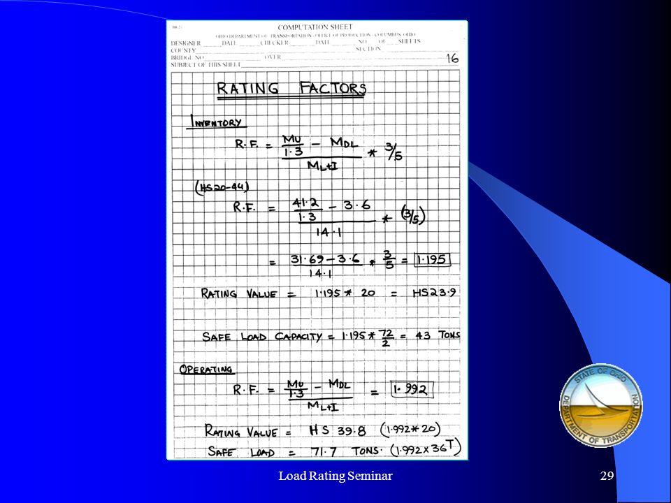 Load Rating Seminar29