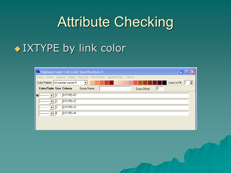 Attribute Checking IXTYPE by link color IXTYPE by link color