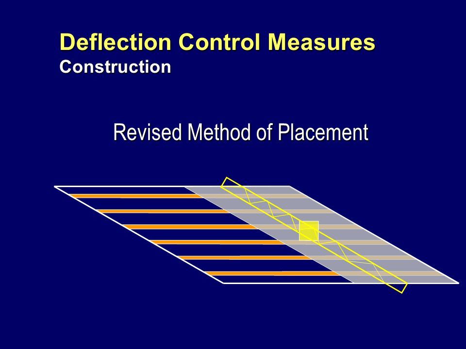 Deflection Control Measures Design Issue: Reduce potential for deck thickness loss due to girder warping between crossframes under the overhang load.