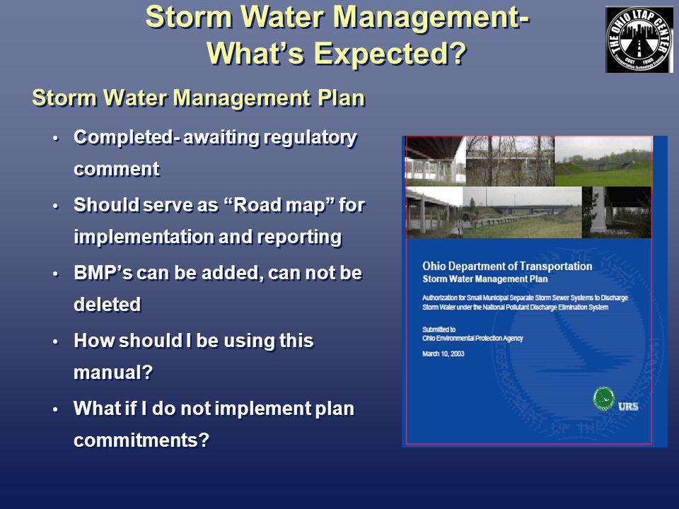 Storm Water Management- Whats Expected.