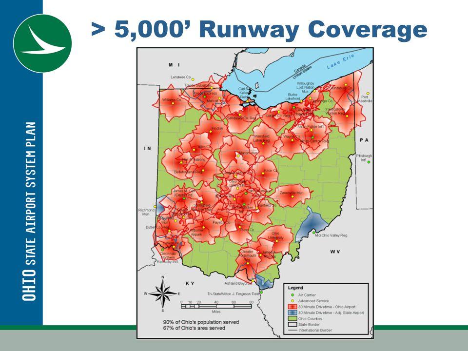 > 5,000 Runway Coverage