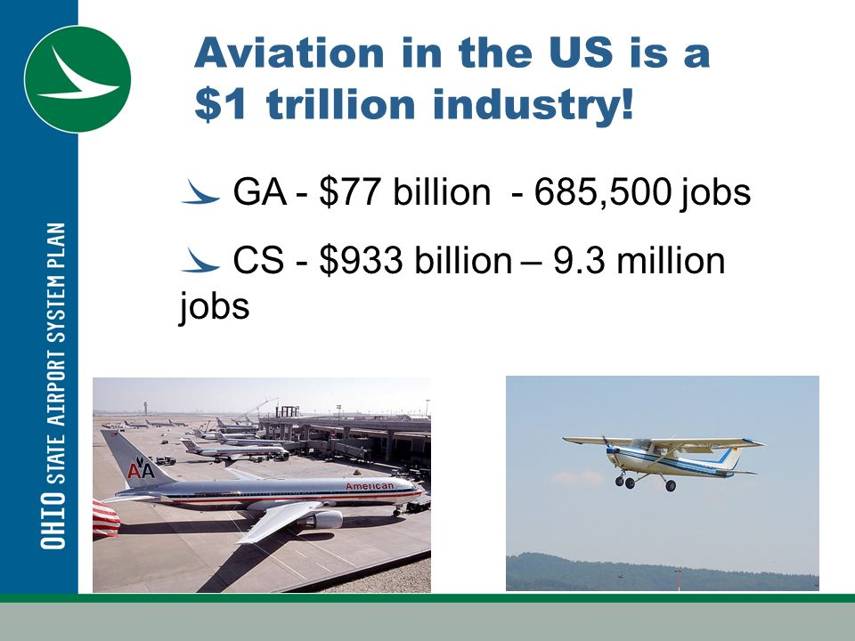 Aviation in the US is a $1 trillion industry.