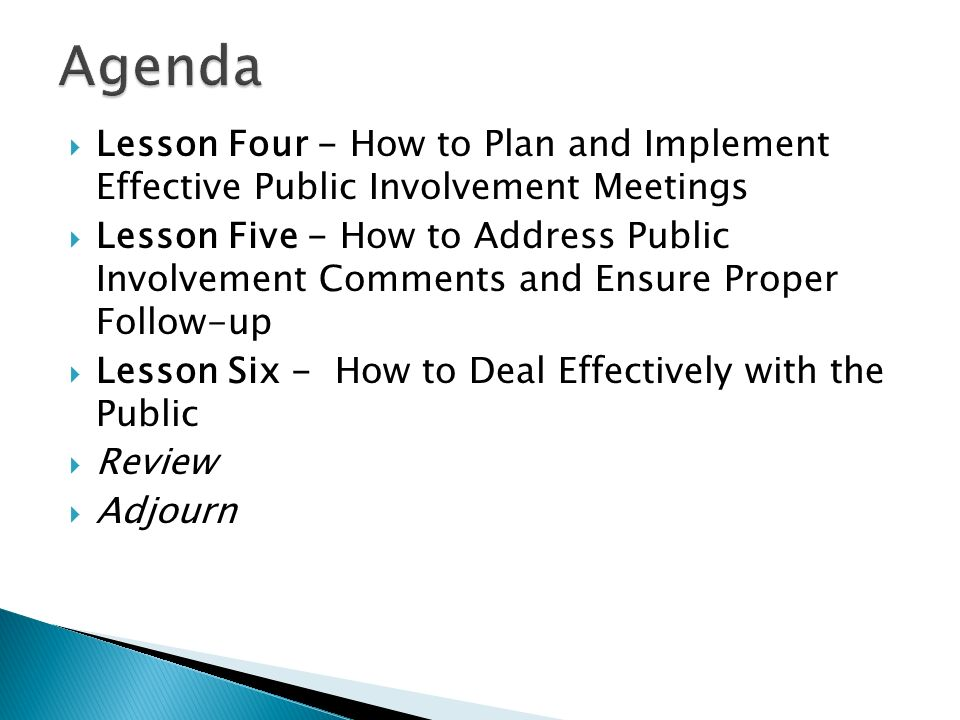 How to Develop a Public Involvement Plan (PIP)