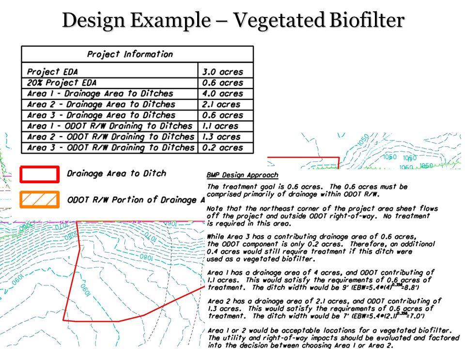 Design Example – Vegetated Biofilter 31