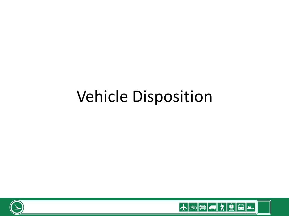 Vehicle Disposition