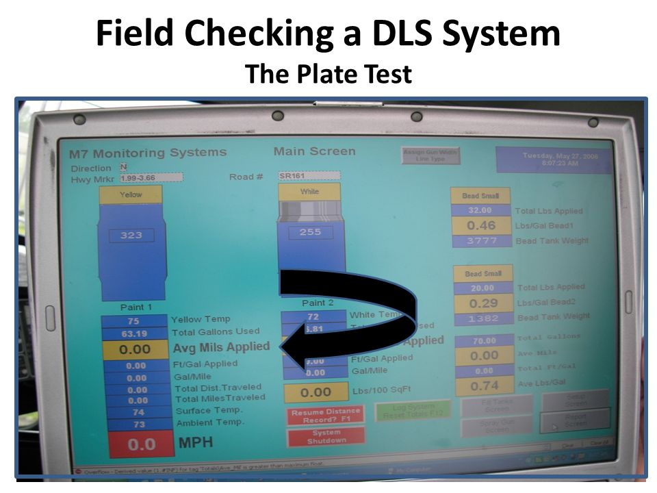 Field Checking a DLS System The Bead Weight Test 1.Check and record the bead weight on the DLS electronic data sheet W1.